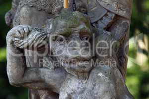 Bounded Devil - Baroque statue
