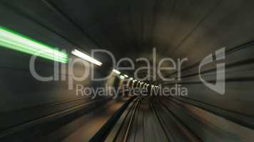 Subway tunnel in motion