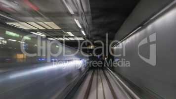 Train's motion in metropolitan tunnel