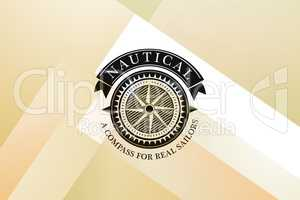 Composite image of nautical compass icon