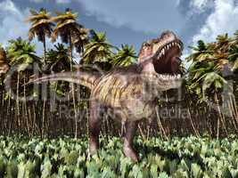 Tyrannosaurus Rex im Dschungel