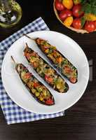 Appetizer eggplant with tomatoes