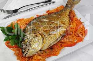 Fried Fish (Dorado)