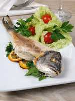 Sea bream (Dorado) baked skinless