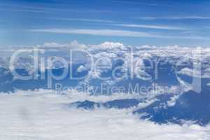 Window Plane View of Andes Mountains