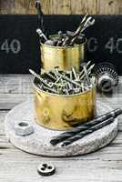 Iron the jar of screws