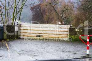 Hochwasserschutz nach starken Regenfällen