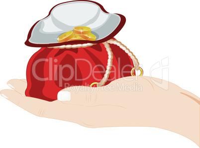 hand with sac.eps