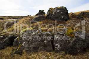 Basalt stones at the cave near Vik, Iceland