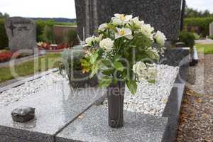 Flowers for grave decoration