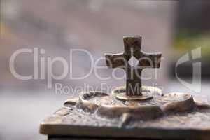 Closeup of a crucifix