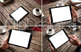 Mockup set of digital tablet pc images
