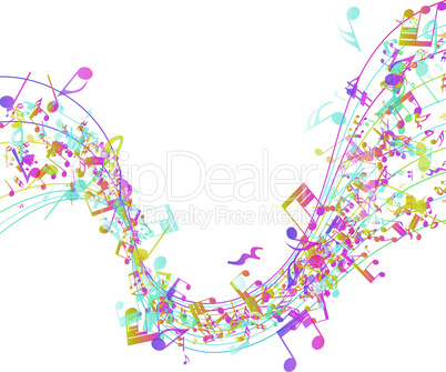 Multicolor Musical Design