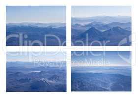Andes Mountains Aerial View Photo Set