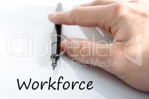 Workforce text concept