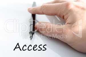 Access text concept
