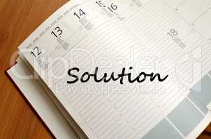 Solution write on notebook