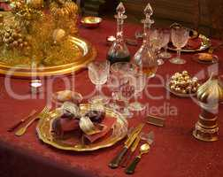 Dinner party luxury table