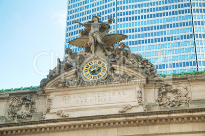Grand Central Terminal old entrance close up