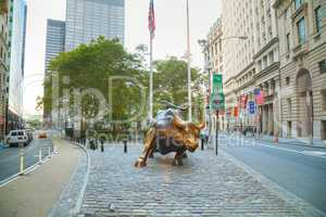 Charging Bull sculpture in New York City