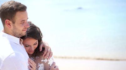 Nice couple on the beach.