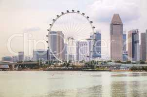 Downtown Singapore as seen from the Marina Bay