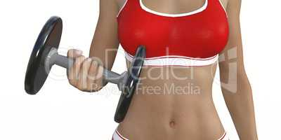 Lady Muscle Training
