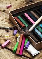 Crayons and paints