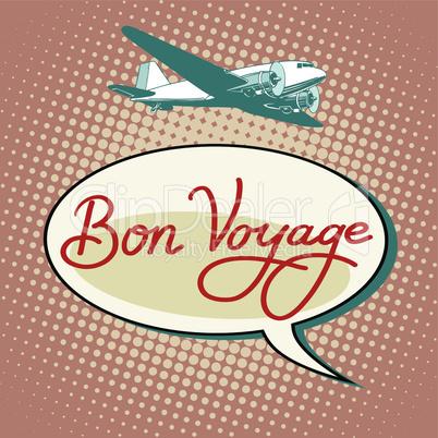 Bon voyage plane tourism flights