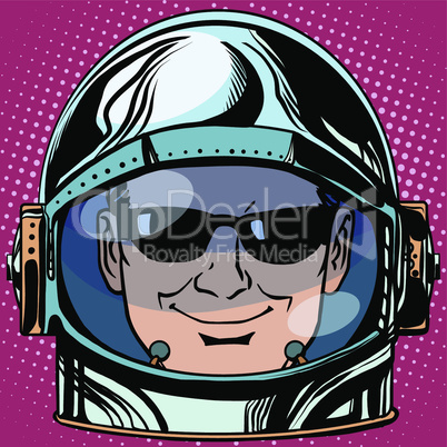 emoticon spy Emoji face man astronaut retro