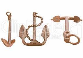 Anchor isolated vintage