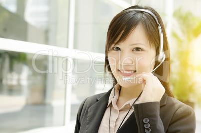 Asian female customer helpline