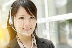Asian female receptionist