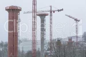 Brückenbaustelle in NRW  bei Bestwig.