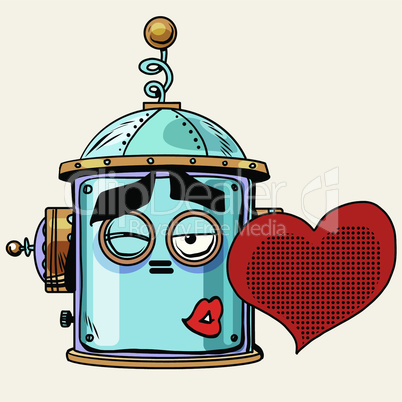 emoticon love kiss emoji robot head smiley emotion