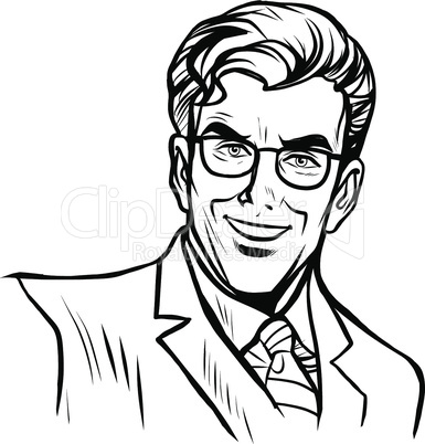 Man businessman online art