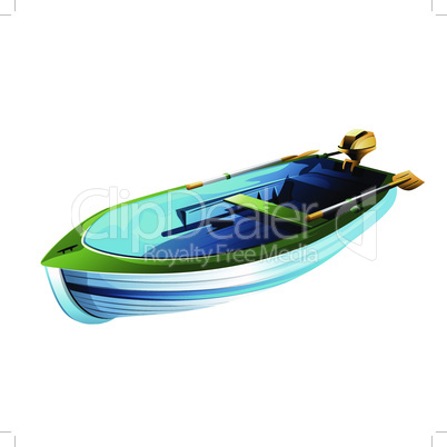 Rowing boat vector illustration on a white background