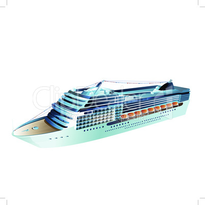 Cruise liner vector illustration on a white background