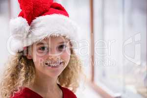 Portrait of a girl in Christmas attire