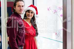 Portrait of couple in Christmas attire