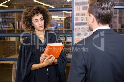 Lawyer interacting with businessman