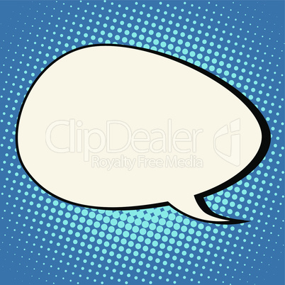 cloud comic bubble retro background for text