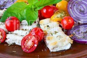 Greek breakfast close up