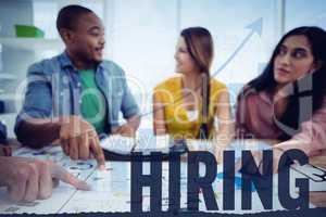 Composite image of hiring