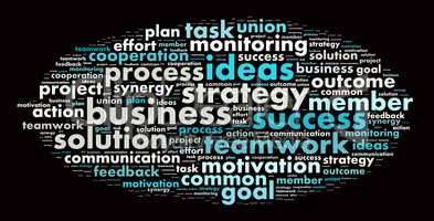 Word cloud business theme