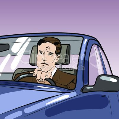 driver car man road