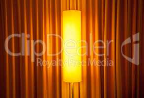 floor lamp ahead curtain