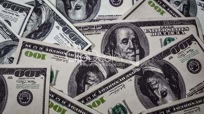 Background of hundred-dollar money