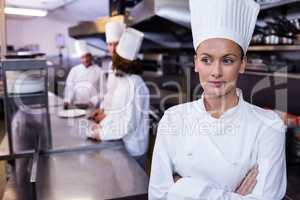 Chef standing in commercial kitchen in a restaurant