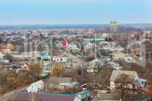 view from the bird's eye view of Kozelets town